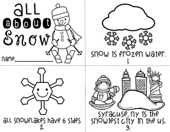 All About Snow Printables Packet