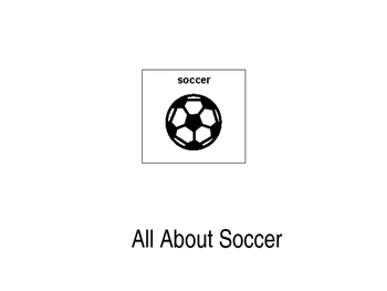 All About Soccer PECS book