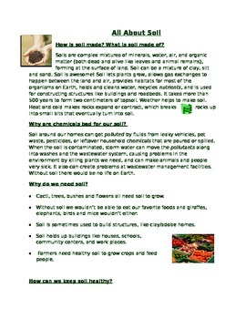 All About Soil Handout