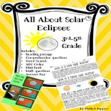 All About Solar Eclipses Printables Reading Passage Math A