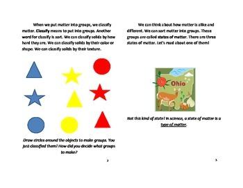 All About Solids Informational Text