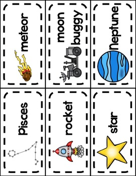 All About Space Word Wall Cards