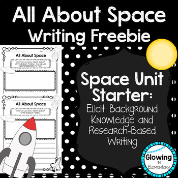 All About Space Writing Freebie