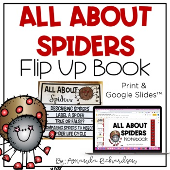 All About Spiders Flip Up Book