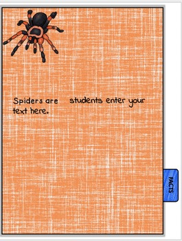 All About Spiders Book Student Nonfiction Writing Presentations EDITABLE