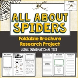 Spiders, Brochure Project, Using Informational Text, Vocab, Diagrams