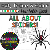 All About Spiders!  Cut, Trace and Color Printable Book