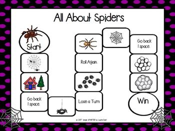 All About Spiders Emergent Reader Book AND Interactive Activities