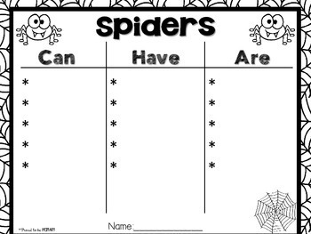 Spiders Non-Fiction ELA & Science