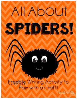 All About Spiders Writing FREEBIE