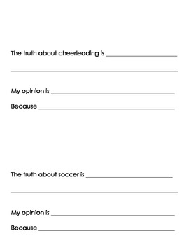 All About Sports! A Fact and Opinion Book