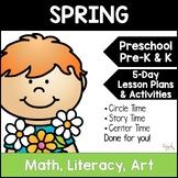 All About Spring 5-Day Unit Plan for Preschool, PreK, K, &