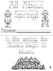 """""""All About Spring!""""  Cut, Trace & Color Printable Book!"""