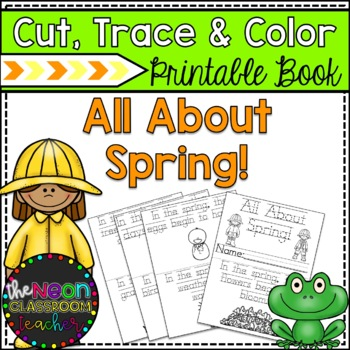 """All About Spring!""  Cut, Trace & Color Printable Book!"
