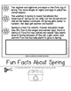 All About Spring Flip Book for First and Second Grade