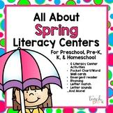 All About Spring Literacy Centers for Preschool, PreK, K & Homeschool