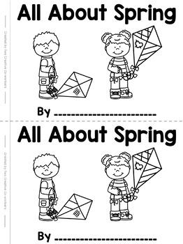 All About Spring Printable Books