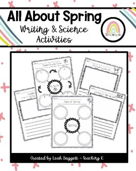 All About Spring Science & Writing: Butterfly, Ladybug, Signs of Spring