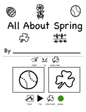 All About Spring Vocabulary Book with Visual Directions (Speech, Autism)