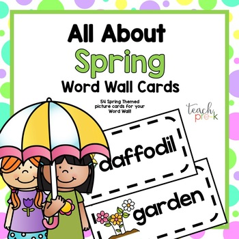 All About Spring Word Wall Picture Cards