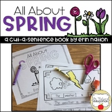 """""""All About Spring"""" a cut-a-sentence book"""