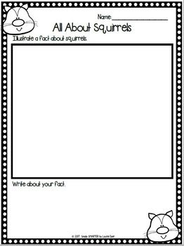 All About Squirrels Emergent Reader Book AND Interactive Activities