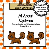 All About Squirrels Emergent Reader Book AND Interactive A