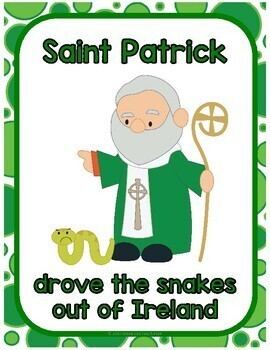 All About St. Patrick Minilesson for Preschool, PreK, K, & Homeschool