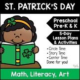 All About St. Patrick's Day:  Lesson Plan for Preschool, PreK, K & Homeschool
