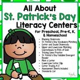 All About St. Patrick's Day Literacy Centers for Preschool, PreK, K & Homeschool