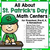 All About St. Patrick's Day Math Centers for Preschool, PreK, K & Homeschool
