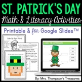 St. Patrick's Day - Print and Go - Math & Literacy - No Prep