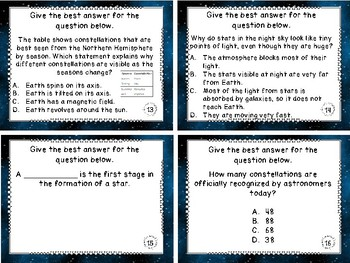 All About Stars Task Cards