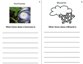 All About Storms Writing Activity Book