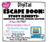 All About Story Elements: Digital Escape Room   Distance L