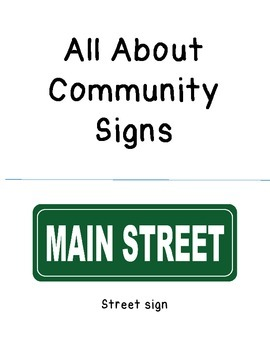 All About Community Signs - Book for Children with Special Needs