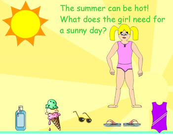 All About Summer (An Interactive SmartBoard Activity that includes sounds!)