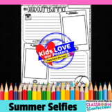 Summer Memories - Back to School Writing Activity: Selfies