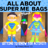 "All About ""Super Me""  Back to School Lunch Bag Craftivity"