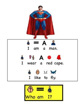 "All About Superheros: A Flip Book ""Guess Who"" book (Autism, Speech)"