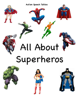 "All About Superheros: A Flip Book ""Guess Who"" book (Autism"