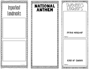 Sweden - Research Project - Interactive Notebook - Government - Mini Book
