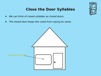 Closed and Open Syllables Minilessons Breaking Words into Syllables