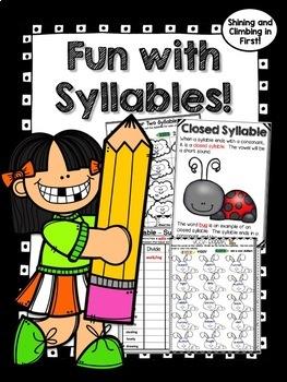 All About Syllables - v/cv, vc/v, vccv, c+le - Word Word! No Prep!