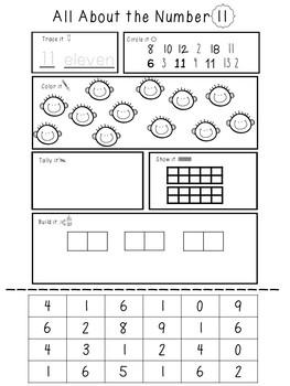 Kindergarten Teen Numbers!