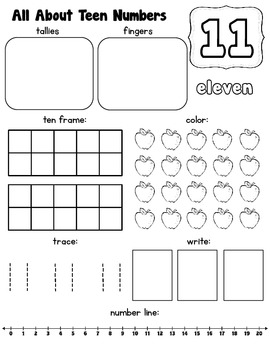All About Teen Numbers {11-20}