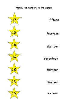 All About Teen Numbers: 13-19
