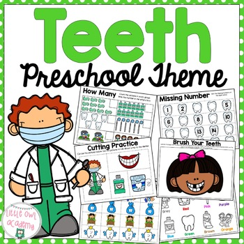 All About Teeth Preschool Early Learning Packet
