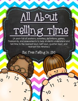 All About Telling Time (hands-on activities, practice pages, assessments & more)