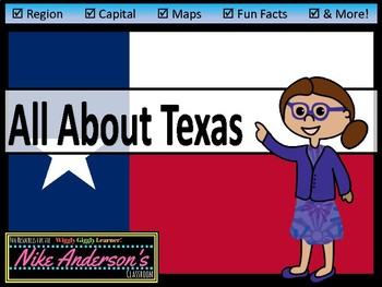All About Texas | US States | Activities & Worksheets